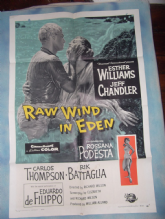 Raw Wind In Eden, Movie Poster, Esther Williams, Jeff Chandler, '58